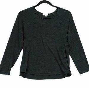 Aritizia Wilfred free M green knit long sleeve